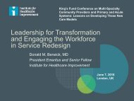 Leadership for Transformation and Engaging the Workforce in Service Redesign
