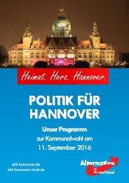 AfD Hannover - Kommunalwahlprogramm 2016
