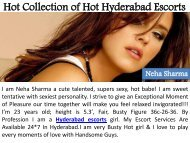 Hot Collection of Hot Hyderabad Escorts