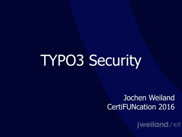 TYPO3 Security