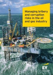 Managing bribery and corruption risks in the oil and gas industry