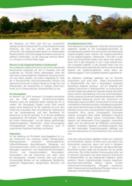 Nationales Naturerbe Stegskopf