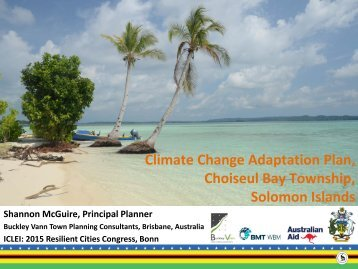 Climate Change Adaptation Plan Choiseul Bay Township Solomon Islands