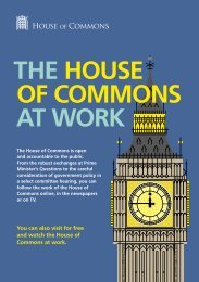 THE HOUSE OF COMMONS AT WORK