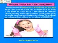 Regular Cleaning Maintenance Renton WA  Non-Stop Maids