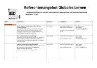 Referentenangebot Globales Lernen - Nord Süd Forum München eV