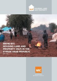 BRIEFING NOTE HOUSING LAND AND PROPERTY (HLP) IN THE SYRIAN ARAB REPUBLIC