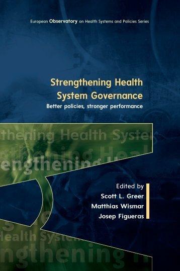 Strengthening Health System Governance