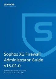 Sophos XG Firewall Administrator Guide v15.01.0