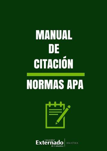 MANUAL DE CITACIÓN NORMAS APA