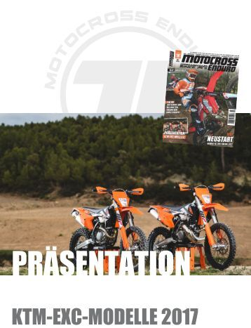 Präsentation KTM EXC Modelle 2017
