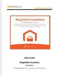 MageMob Inventory System: Magento Mobile Inventory User Guide