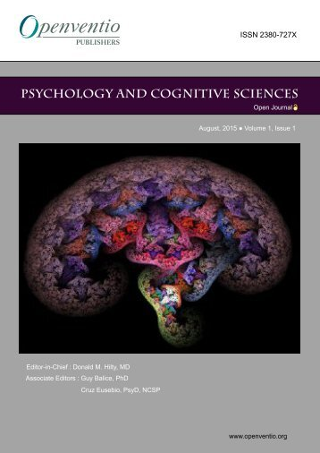 Psychology and Cognitive Sciences