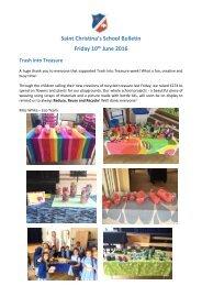 Saint Christina's School Bulletin Friday 10 June 2016