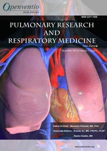 Pulmonary Research and Respiratory Medicine