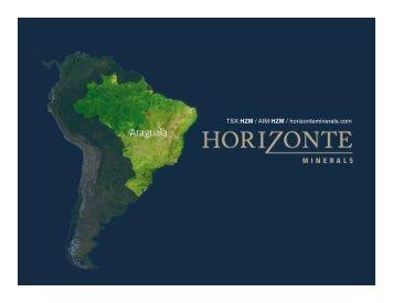 TSX:HZM / AIM:HZM / horizonteminerals.com