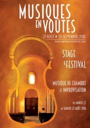 Stage festival