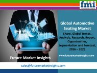 Automotive Seating Market Volume Analysis and Key Trends 2016-2026