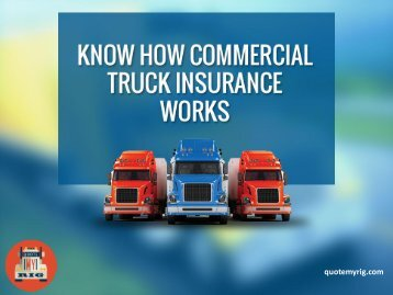 Know How Commercial Insurance Works