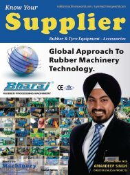 Know Your Supplier - Rubber & Tyre Machinery World June2016 Special