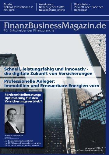 FinanzBusinessMagazin Ausgabe 2-2016