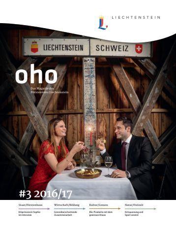 oho #3 - Das Magazin des Fürstentums Liechtenstein