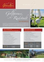 Golfgenuss im Gründlers