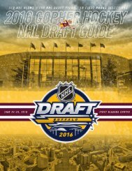 2016 GOPHER HOCKEY NHL DRAFT GUIDE