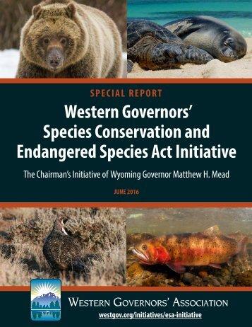 Endangered Species Act Initiative
