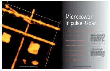Micropower Impulse Radar - Lawrence Livermore National Laboratory