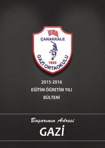 GAZİ ORTAOKULU 2015-2016 BÜLTEN