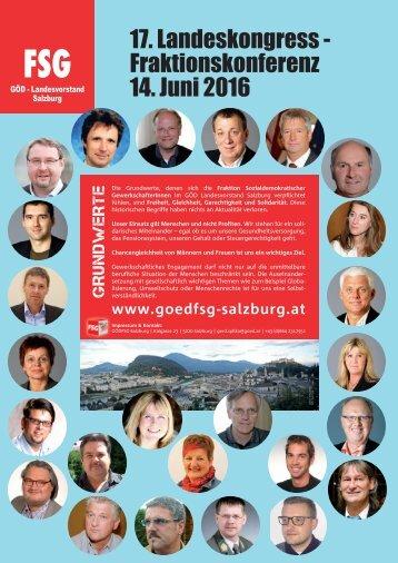 17. Landeskongress-Fraktionskonferenz 2016