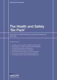 The Health and Safety 'Six Pack'