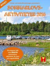 Sommarlovsaktiviteter 2016