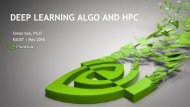 DEEP LEARNING ALGO AND HPC