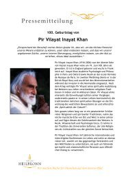 Pir Vilayat Inayat Khan - 100. Geburtstag
