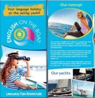 English on the Boat brochure