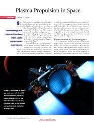 Plasma Propulsion in Space - American Institute of Physics