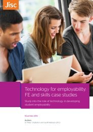 Technology for employability FE and skills case studies