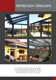 Referenzen Terrassen Vordermayer Wohnen mit Glas