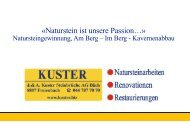Kuster AG,Naturstein ist unsere Passion