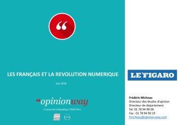 LES FRANÇAIS ET LA REVOLUTION NUMERIQUE