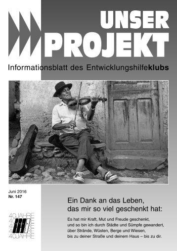 Unser Projekt Nr. 147 / Juni 2016