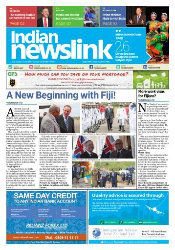 Indian Newslink 15th June 2016 Digital Edition