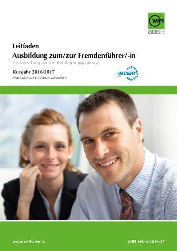 Leitfaden: Ausbildung zum/zur Fremdenführer/-in
