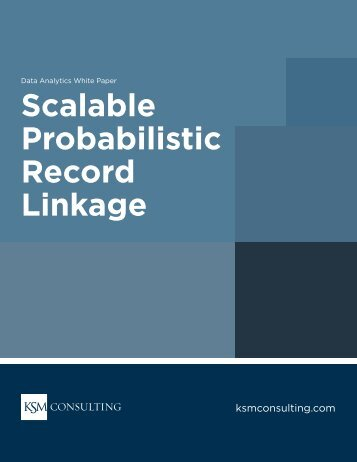 Scalable Probabilistic Record Linkage