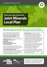 Joint Minerals Local Plan