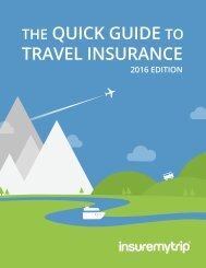 QUICK GUIDE TRAVEL INSURANCE