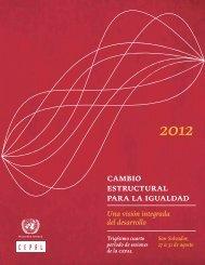 Cambio estructural para la igualdad: una visión integrada del desarrollo. Trigésimo cuarto período de sesiones de la CEPAL