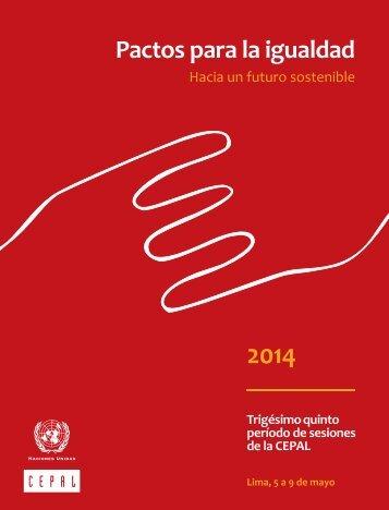 Pactos para la igualdad: hacia un futuro sostenible